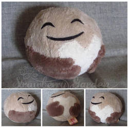 Pluto heart plushie by Spark-Strudel