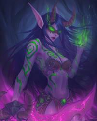 Night Elf Demon Hunter by ArtJake