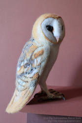 Barn Owl sculpture by thai-binturong