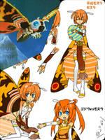 MOTHRA 1 - Anime Moe fanart. by GoMonsterMaster91