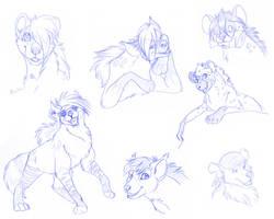 Hyena sketches by Mirri