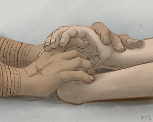 Holding Hands by Mirri