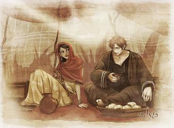 Djamila and Gabriel by Hito76