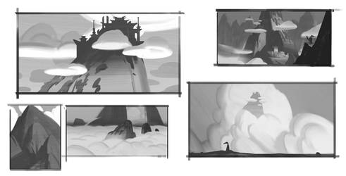Icons Combat Arena: Cloud Kingdom Sketches by k04sk