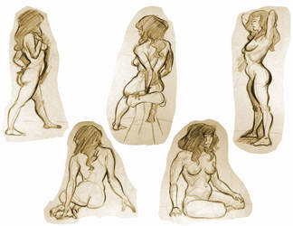 Life Drawing 6 by Re6ilient