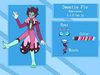 Sweetie Pie - Reference Sheet by Starving-Aristocrat