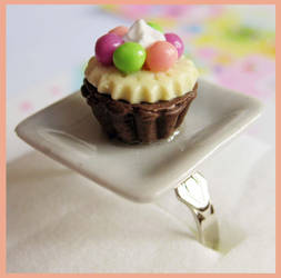 Colorful Cupcake Ring by cherryboop