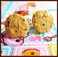 Cookie Chips Stud Earrings by cherryboop