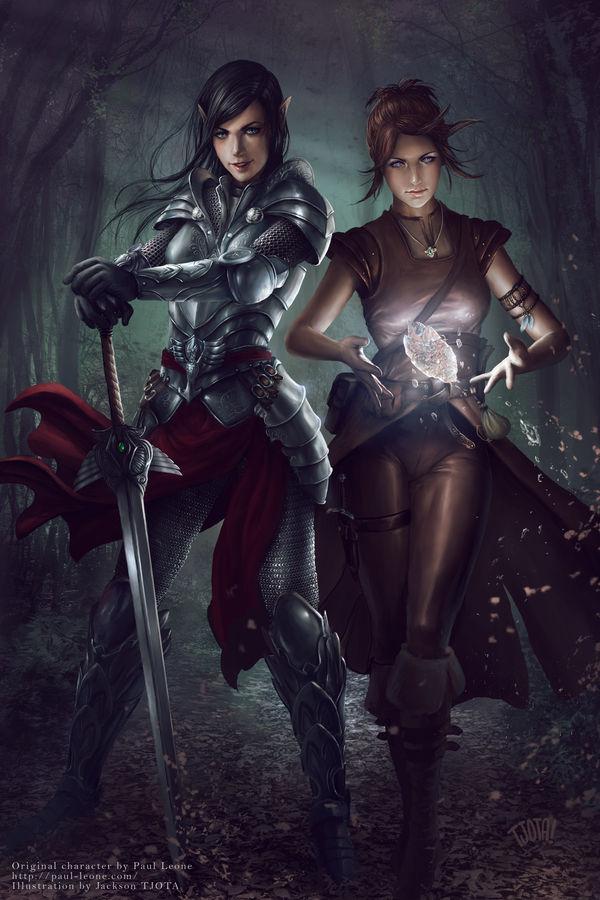 Amra and Iria by tjota