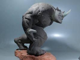 Rhino Sculpture 4 by loqura