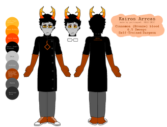 Kairos Arrcas Character Ref (READ DESC) by psitongael