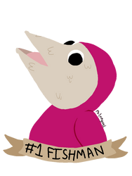 Art Trade: Fishman by psitongael