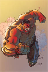 RED Hulk by Marc-F-Huizinga