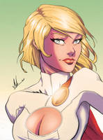 Powergirl by Marc-F-Huizinga