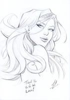 Supergirl Ko-fi sketch by Marc-F-Huizinga