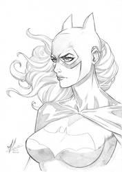 Batgirl Pencils by Marc-F-Huizinga