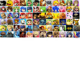 Nintendo vs. Sony character select screen by Flipsideart3111