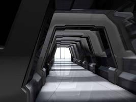 Sci-Fi Hallway by COZMONATOR