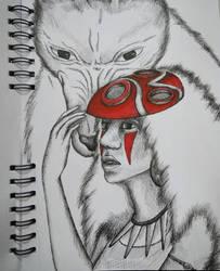 Mononoke Hime by annalogias