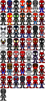 [OLD] Spider-Man 50th Anniversary, 50 Spidey by FriendAlias