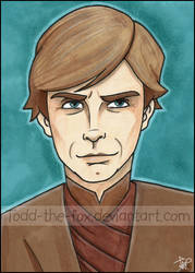 Luke Skywalker - Sketchcard by Todd-the-fox