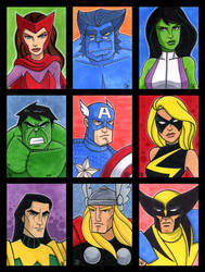 Marvel Sketch cards Series 1 by Todd-the-fox