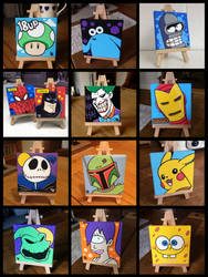 Mini Canvases by Todd-the-fox