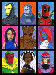 Marvel Sketch cards Series 2 by Todd-the-fox