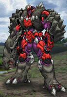 Beast Wars Future: Megatron Colorization by wingedmonkee