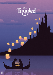 Tangled - Illustration Poster by str-dusts