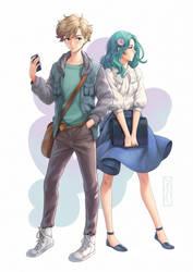 Haruka to Michiru by Kotikomori