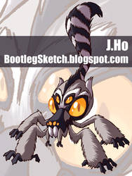 Mutant Zoo... Lemur+Tarantula by jasonhohoho