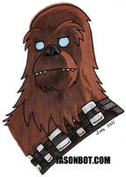 Leftover Commission - I did it all for the Wookiee by jasonhohoho