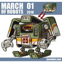 March Of Robots 2018 01 by jasonhohoho