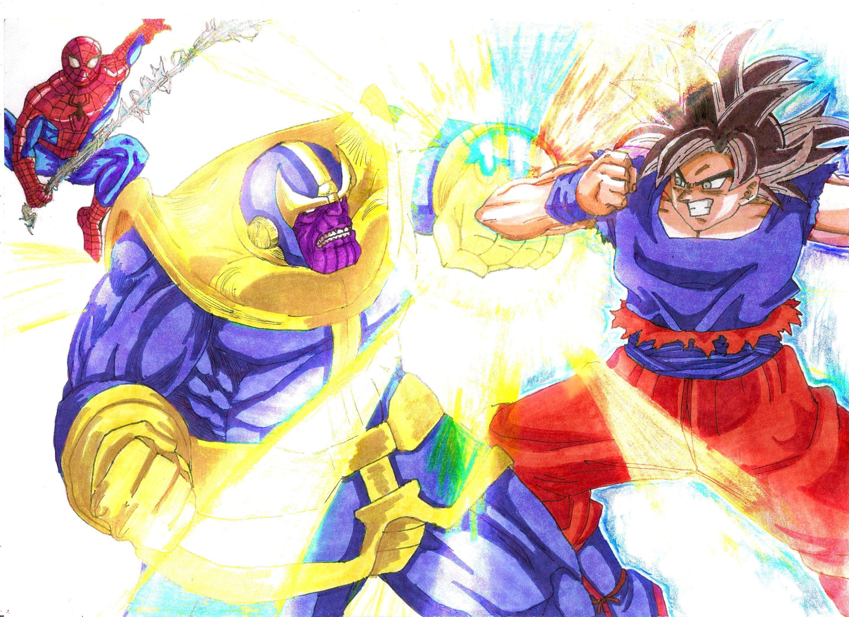 Goku Vs Thanos: Goku Vs Thanos Boceto By SonNeko On DeviantArt