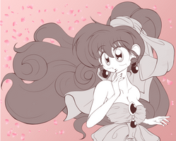 (Not So Quick) Ranma Sketch: A Much Better Bride 2 by BA4ever