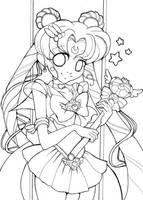 :Lineart: Sailormoon again by shiorimaster