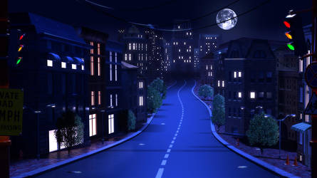 Night street by artforgame