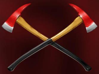 Fire axes by artforgame