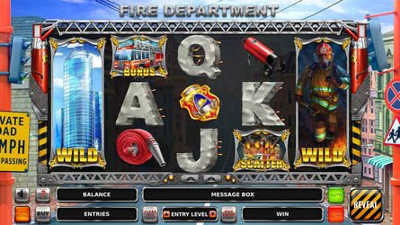 Slot machine - Fire department by artforgame