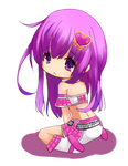 Commission: Nepgear idol chibi by Chocolate-Choux