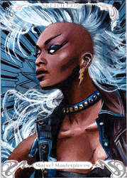 UPPER DECK MARVEL MASTERPIECES SKETCH CARD - STORM by FredIanParis