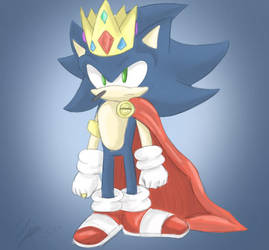 King Dark Sonic!!!! by sarahlouiseghost