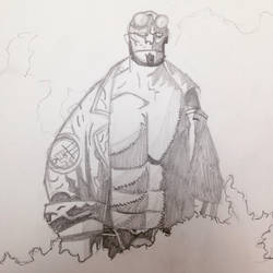 Hellboy  by Gingeralert2