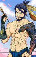 Hanzo Overwatch finshed by BastianGreyWolf