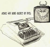 Atari 400 Object of Evil by JeremeyPrickles