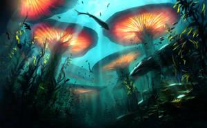 Beneath the Waves - Underwater Forest by ArtLatkowski