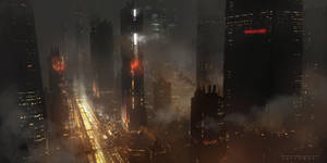 Cities like burning scars by ArtLatkowski