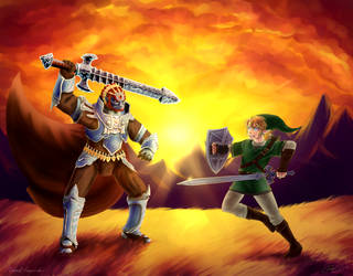 Collab: Ganondorf vs Link by framtiden
