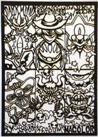 Papercutting-Kirby Bosses 2 by Sirometa